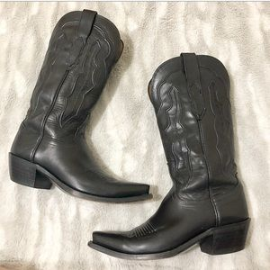 Lucchese | Grace Ranch Hand Black Riding Boots